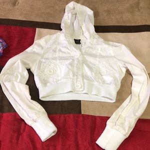 Vanity white crop top jacket